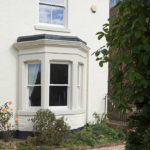 white wooden sash windows