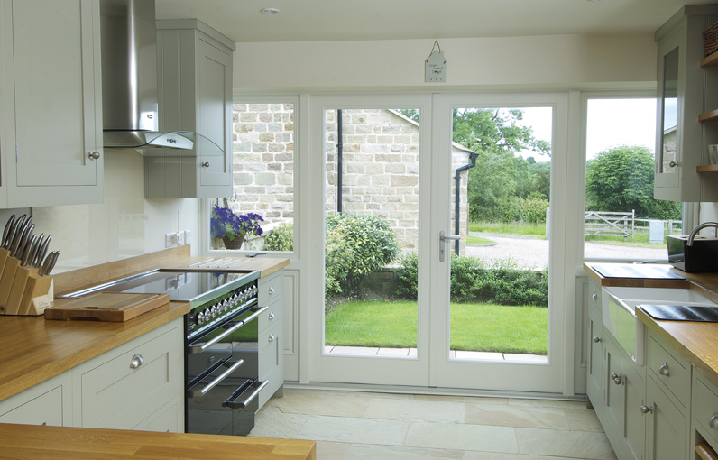 Timber window door inspiration timber windows north french doors and galley kitchen work exceptionally well together freerunsca Choice Image