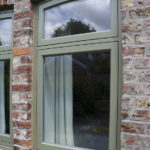 sage green tilt & turn wooden window