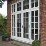 white wooden french patio doors and windows