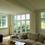 white wooden french doors and windows