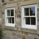 two white sash windows