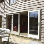 sage green bifold patio doors
