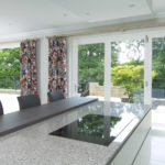 white wooden bifold doors