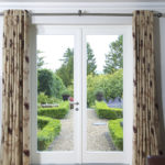 white wooden patio doors