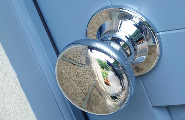 Samuel Heath polished chrome door knob