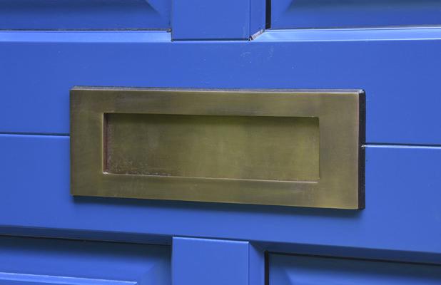 Antique brass Samuel Heath letterbox
