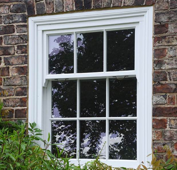 Traditional hardwood, double glazed sash window