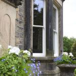 white long wooden sash windows