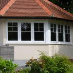 white wooden windows