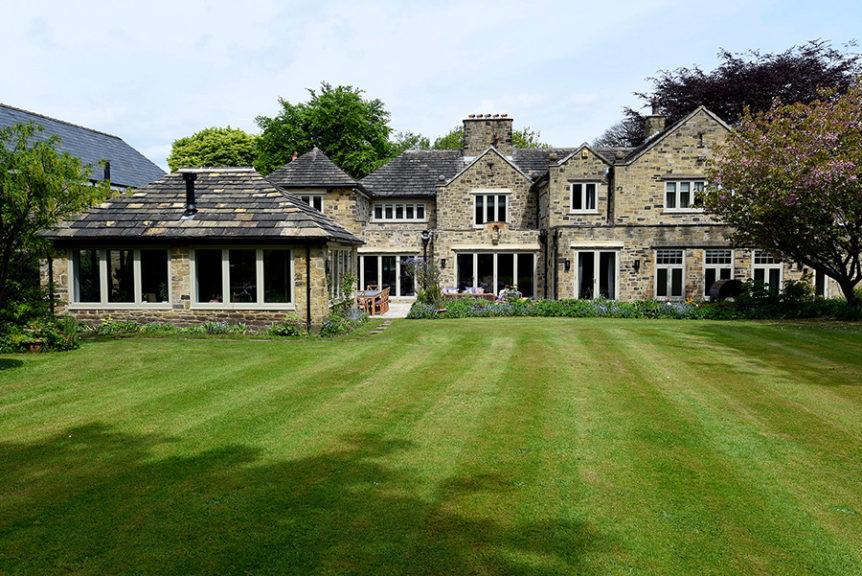 large house with cream timber wondows