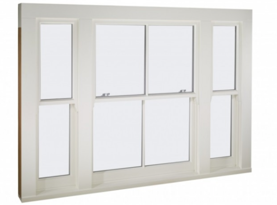 The Venetian style sash window